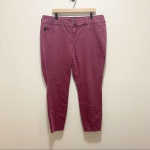 Torrid Stretch Skinny Jeans Purple Size 22R